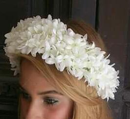 Corona de flor de azahar